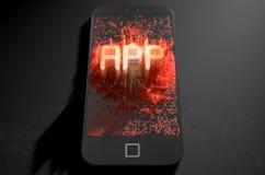 Smart Phone che emana App Fotografia Stock