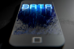 Smart Phone che emana i dati Fotografie Stock Libere da Diritti