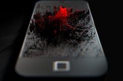 Smart Phone che emana infezione Immagine Stock Libera da Diritti