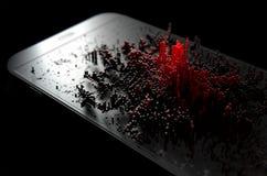 Smart Phone che emana infezione Immagini Stock Libere da Diritti