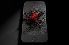 Smart Phone che emana infezione Fotografie Stock Libere da Diritti