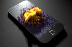 Smart Phone che emana realtà aumentata Fotografie Stock