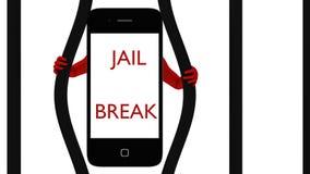 Smart Phone che scoppia Fotografia Stock Libera da Diritti