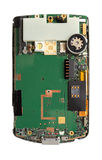 Smart phone circuit board isolated Royalty Free Stock Photography