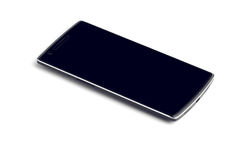 Smart Phone Close Up Isolated On White Royalty Free Stock Photos