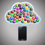 Smart phone cloud Royalty Free Stock Images