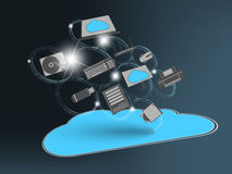 Smart phone in the cloud Stock Image