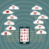 Smart Phone Cloud Network Royalty Free Stock Photography