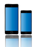 Smart Phone color Isolated Different size Stock Photos