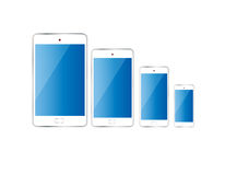 Smart Phone color Isolated Different size Stock Photography