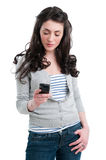 Smart phone communication Royalty Free Stock Image