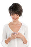 Smart phone communication Stock Photo