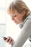 Smart phone communication Stock Image