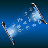 Smart phone communication technology background Royalty Free Stock Image