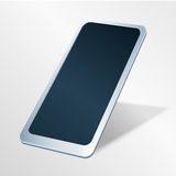 Smart Phone con il touch screen Sguardo di prospettiva Immagine di vettore Fotografia Stock Libera da Diritti