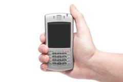 Smart Phone con la tastiera di qwerty a disposizione Fotografie Stock Libere da Diritti