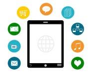 Smart Phone con le icone variopinte Fotografie Stock