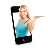 Smart phone Concept With Beautiful Royalty Free Stock Photography
