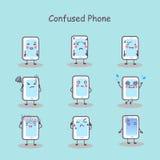 Smart Phone confuso del fumetto royalty illustrazione gratis