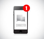 Smart phone connected communication concept Royalty Free Stock Photo