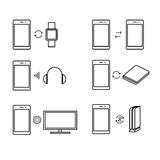 Smart phone connection icon Stock Image