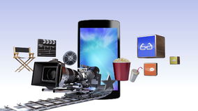 Smart Phone, contents for entertainment and movie concept stock footage
