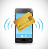 Smart phone and credit card shopping concept. Royalty Free Stock Image