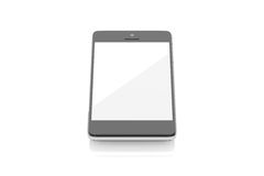 Smart Phone 3D Model / Blank Screen Royalty Free Stock Images