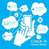 Smart Phone del touch screen, infographic Immagini Stock Libere da Diritti