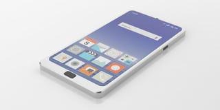 Smart Phone della rappresentazione 3d Immagini Stock Libere da Diritti