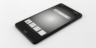 Smart Phone della rappresentazione 3d su fondo bianco Fotografia Stock Libera da Diritti