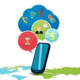 Smart Phone Device Icon Bubble Vector Royalty Free Stock Photos