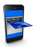 Smart Phone di credito Fotografia Stock