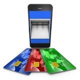 Smart Phone di credito Fotografie Stock