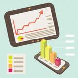 Smart Phone di notifica del grafico dell'attività Immagini Stock