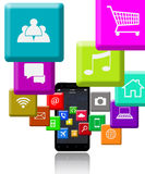 Smart Phone e programmi Fotografie Stock