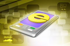 Smart phone with e sign Stock Image