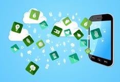 Smart Phone eco friendly icons royalty free stock photo