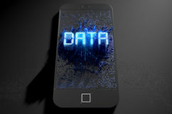 Smart Phone Emanating Data Royalty Free Stock Images