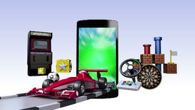 Smart Phone, entertainment TV channel contents for Game concept stock video