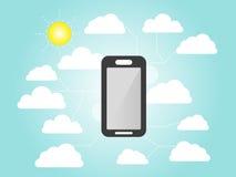 Smart-phone flat info graphics element Stock Images