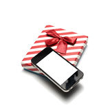 Smart phone and gift box Royalty Free Stock Image