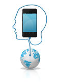 Smart Phone Global Connection royalty free stock image
