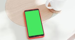 Smart phone with green screen stock photo