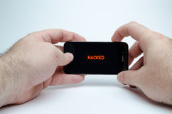 Smart Phone Hacked Stock Photography