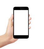 Smart phone in hand Royalty Free Stock Photos