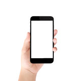 Smart phone in hand Stock Photography