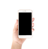 Smart phone in hand Stock Images