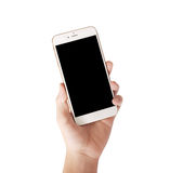 Smart phone in hand Royalty Free Stock Image