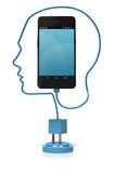 Smart Phone Head Smart Royalty Free Stock Images